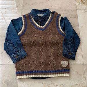 Kanz vest and shirt set (boys)